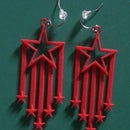 Putting Together Stars and Stripes Earrings *Hooks
