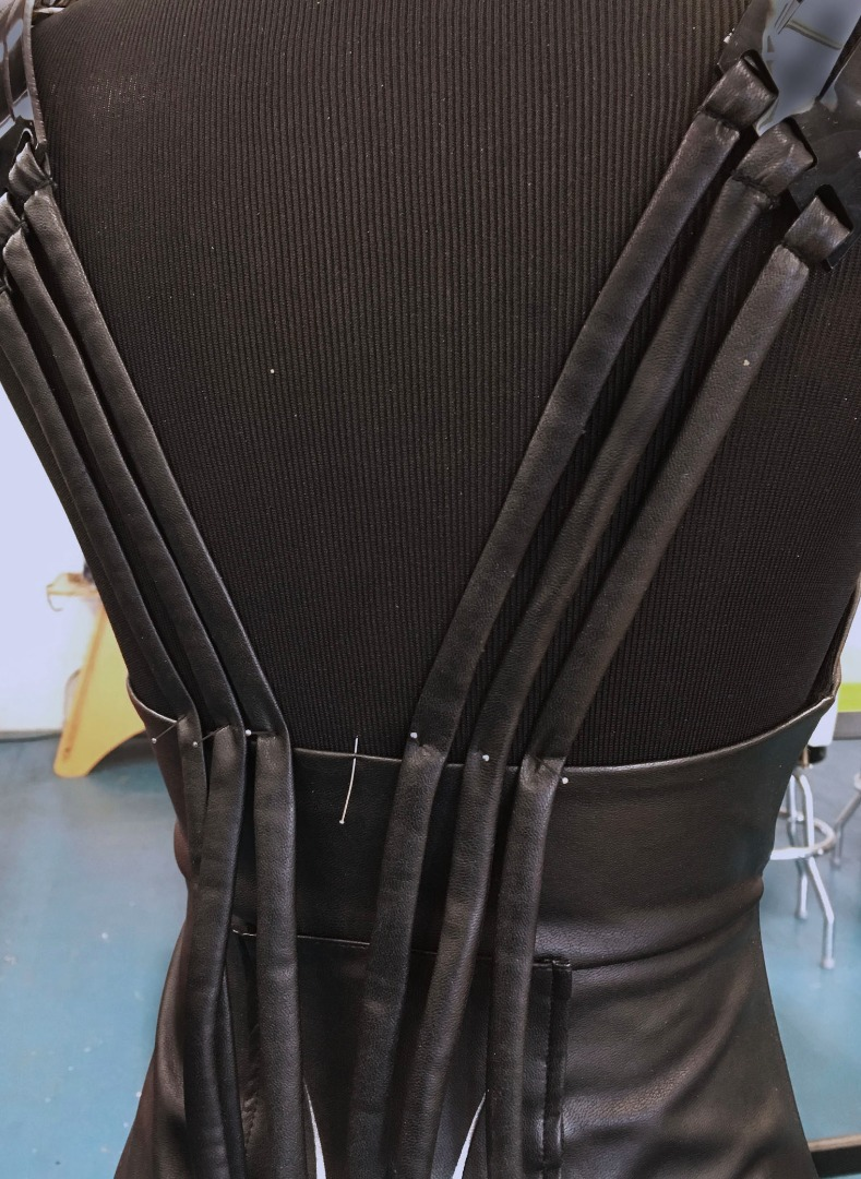 Picture of Sew the Fabric Strips Onto the Dress
