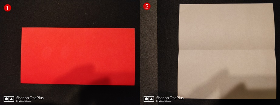 Picture of Fold the Paper in Half and Then Unfold It.