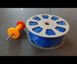 3D-printable Split Filament Spool With Threaded Joint