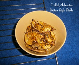 Grilled Aubergine Italian Style Pickle