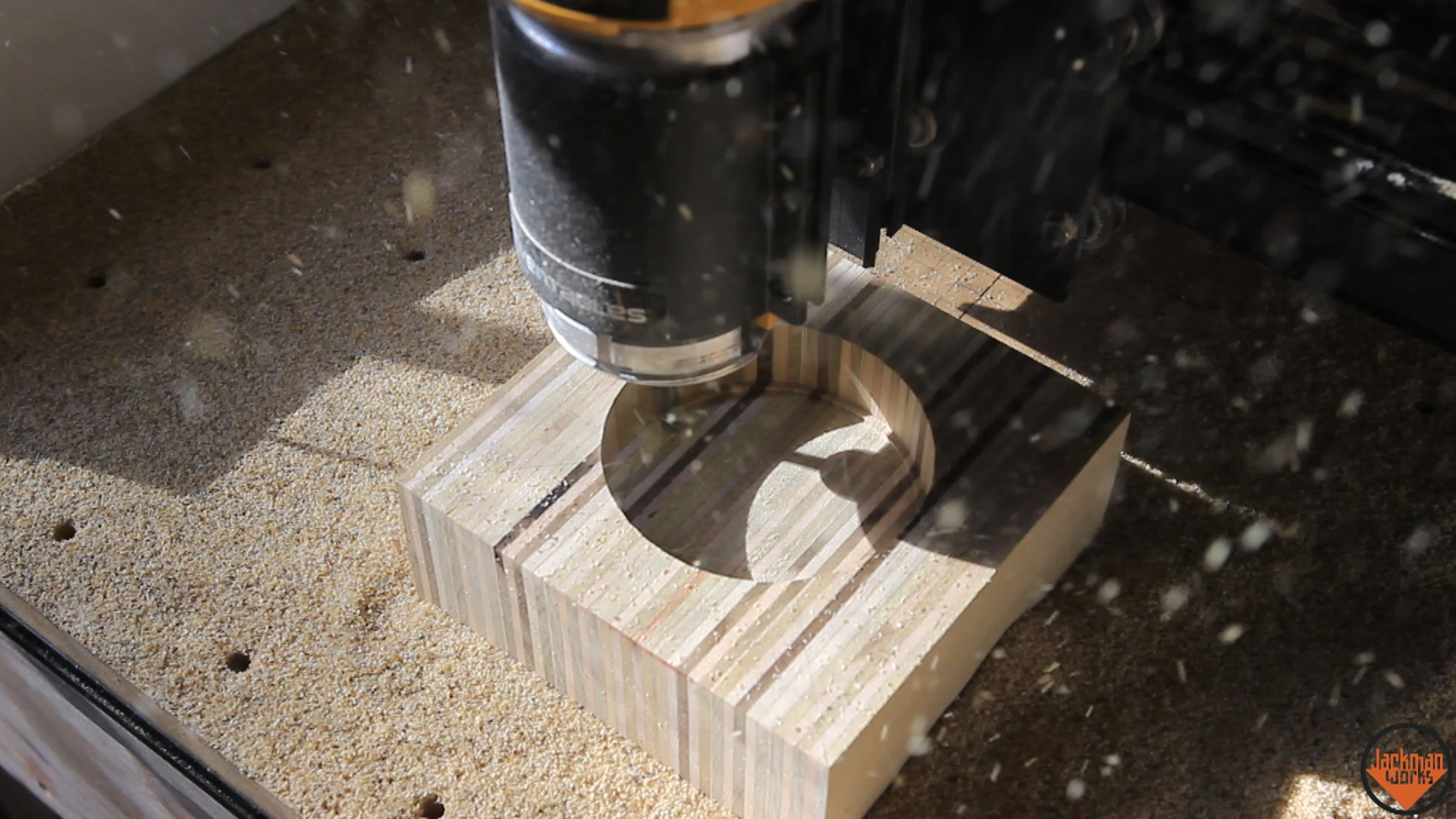 Picture of Cutting the Holes on the CNC