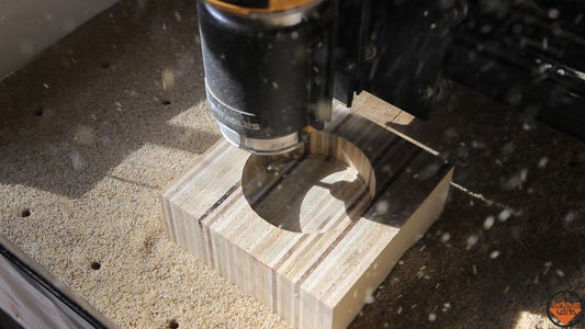 Cutting the Holes on the CNC