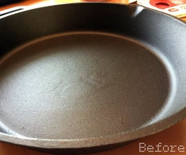 Sanding and Polishing - Cast Iron Skillet Cookware