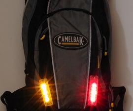 FlashBack - Backpack, Camelbak or Jersey Integrated LED Bike Flashers