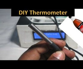 Water Proof Thermometer Using DS18B20