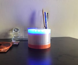 Wireless Powered Multi Color LED Lamp