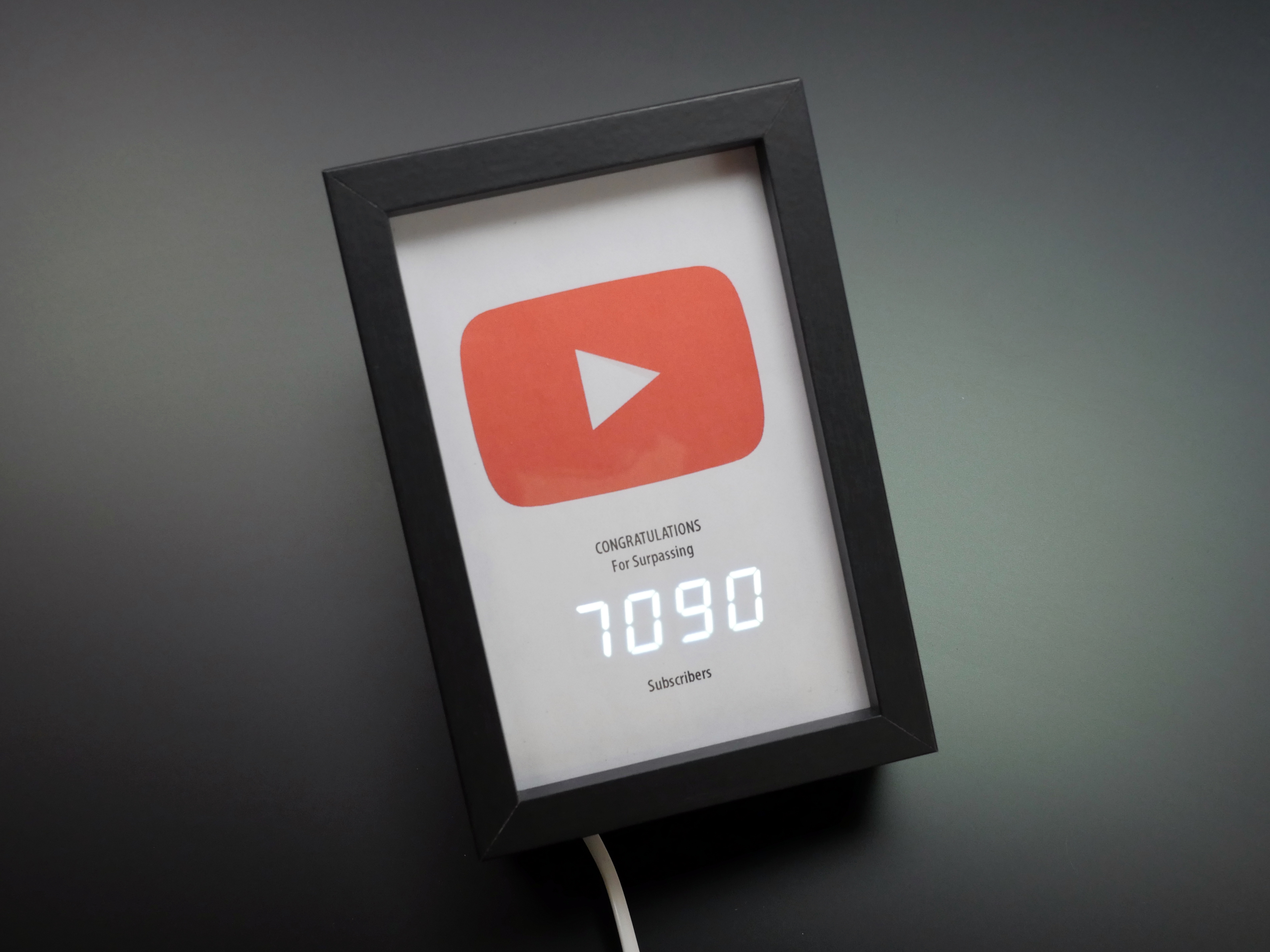 Picture of YouTube Subscriber Counter (Under 10K)