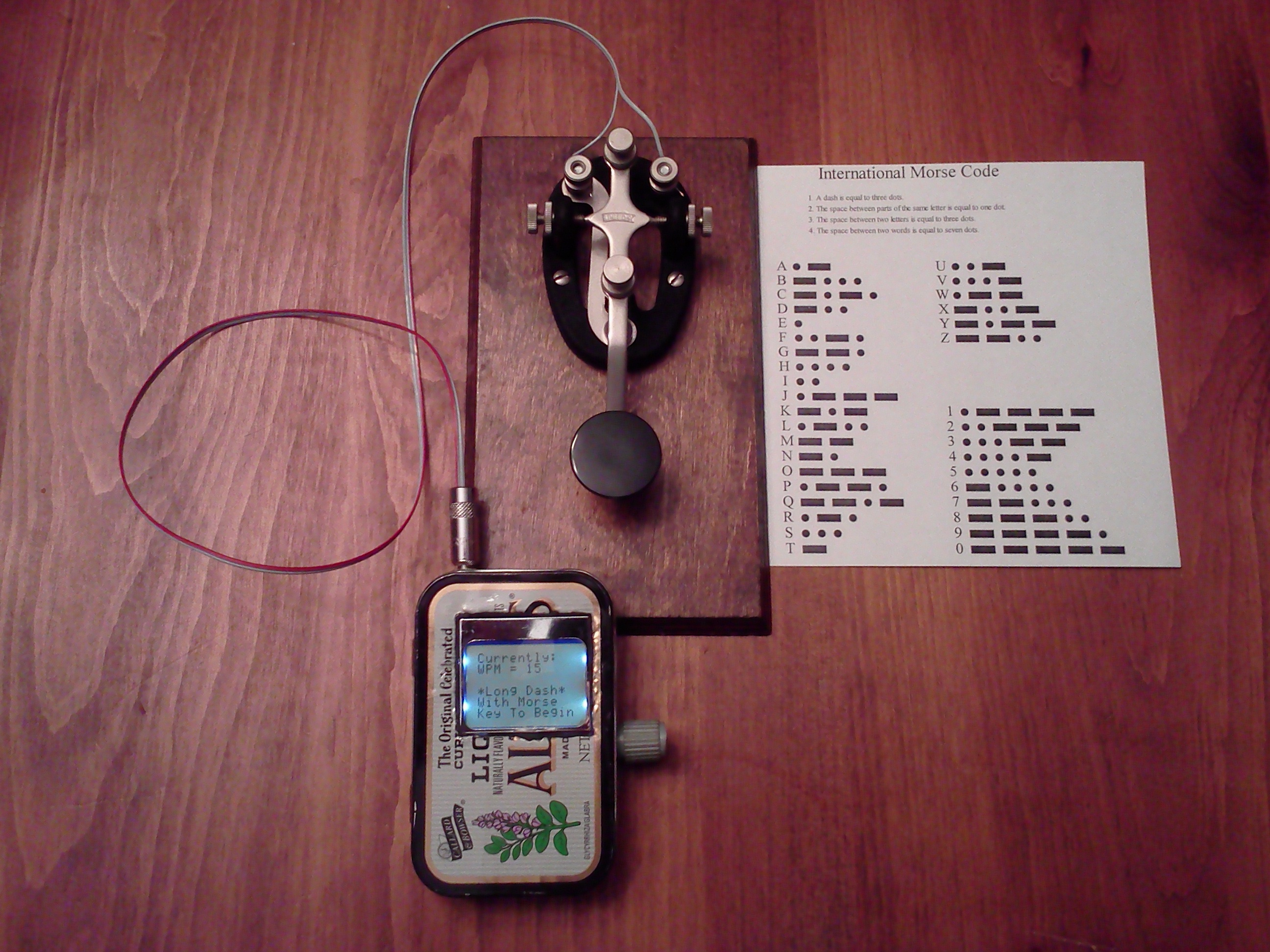 Picture of Minty Magic Morse - Arduino Style