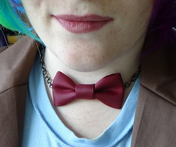 Doctor Who Bow Necklace