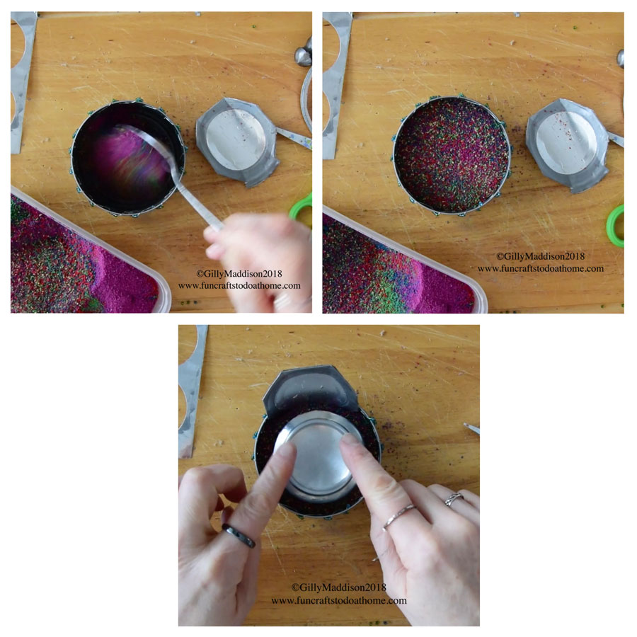 Picture of Fill the Tin With Colored Sand
