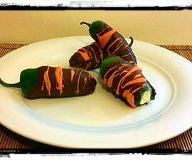 Chocolate Covered, Cream Cheese Stuffed, Jalapeño Peppers