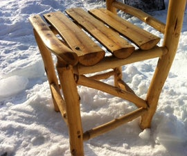 Build yourself a rustic wood chair