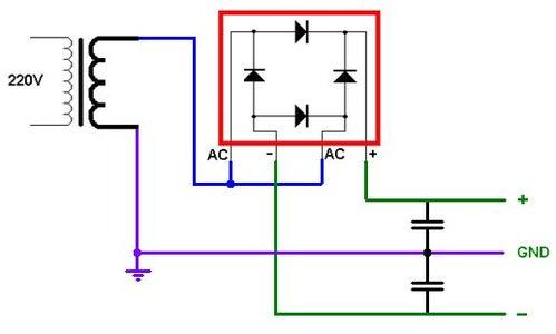 "Blue Potentiometer, Made ""bipolar Power Supply"""