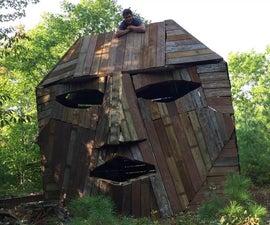 Giant Wooden Head