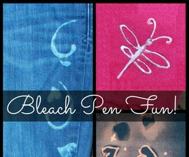 A Cool Way to Decorate Your Old Duds with Bleach