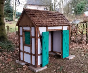 Wooden Timber Frame Look- a -like Playhouse
