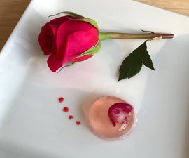 Molecular Rosé Spheres With Raspberry Gel