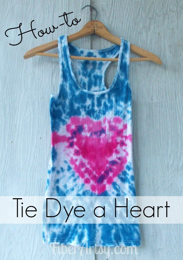 Easy How To Tie Dye A Heart 5 Steps Instructables