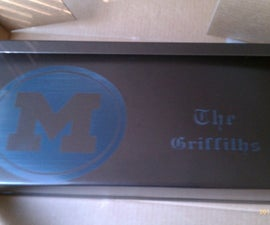 How I etched a mailbox using a Laser Cutter