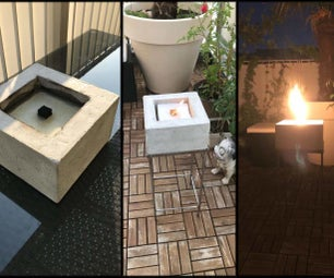 Concrete Outdoor Fire With Steel Base