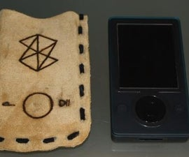 Zune (or any mp3-player) Leather pouch with branding