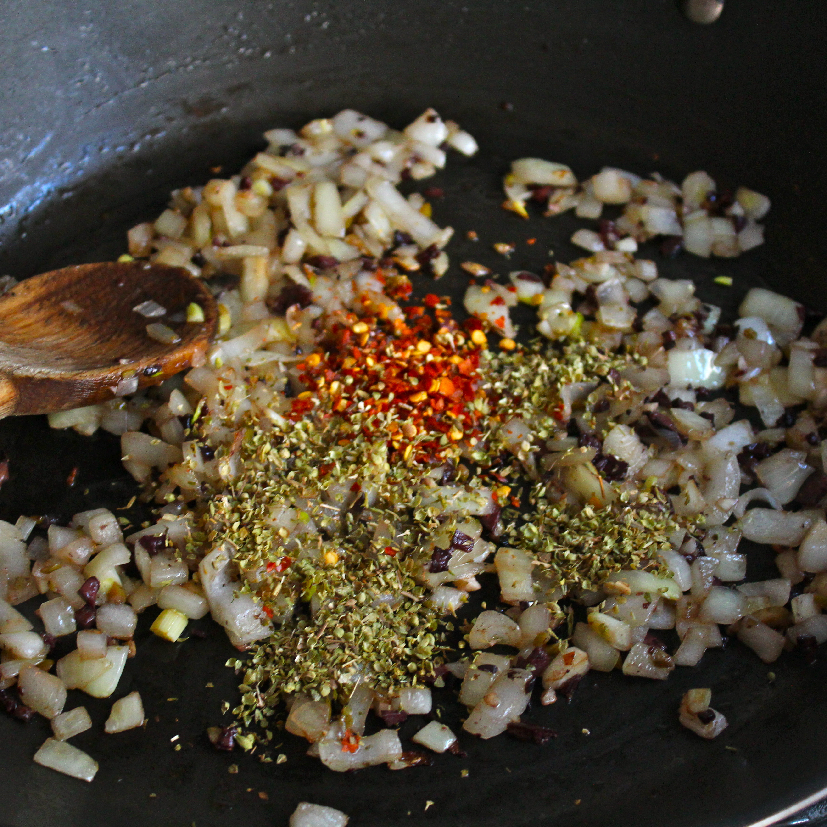 Picture of Saute the Veggies + Add Spices and Herbs