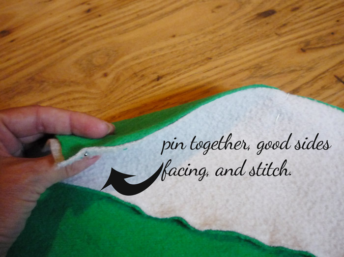 Picture of Slytherin Scarf (from Old Sweatshirts)