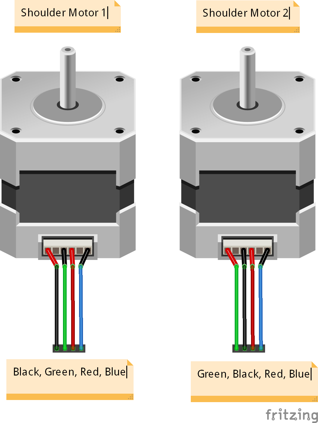 Picture of Add Pin Headers to Motor Cables
