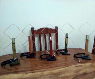 BIQUAD Indoor Antenna, Made of Copper and Wood for Reception of HDTV Channels in the UHF Band (CHANNELS 14-51)