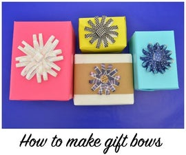 How to make paper gift bows using silhouette (Free cut file)