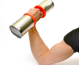 Tin Can Dumbbell (3D Printed), by Samuel Bernier Project RE_