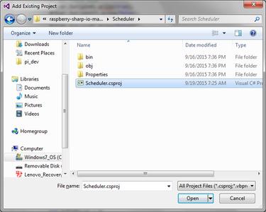 Prepare Visual Studio: Scheduler Project