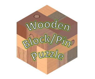 Wooden Block and Pin Puzzle