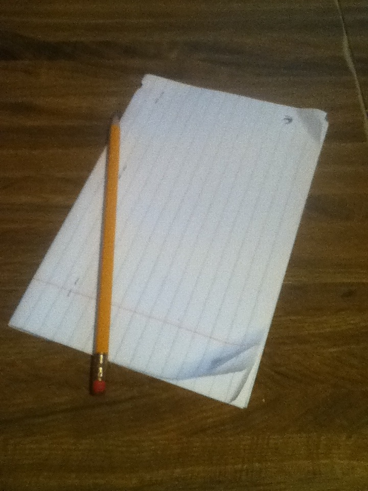 Picture of Pencil and Paper