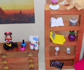 DIY LPS Girl Miniature Dollhouse Bedroom