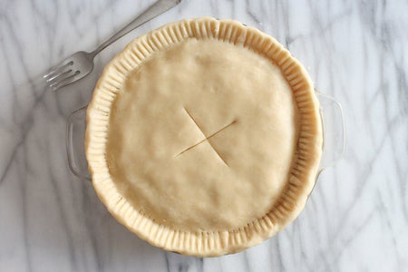 Rolling Out and Cooking the Pie Crust