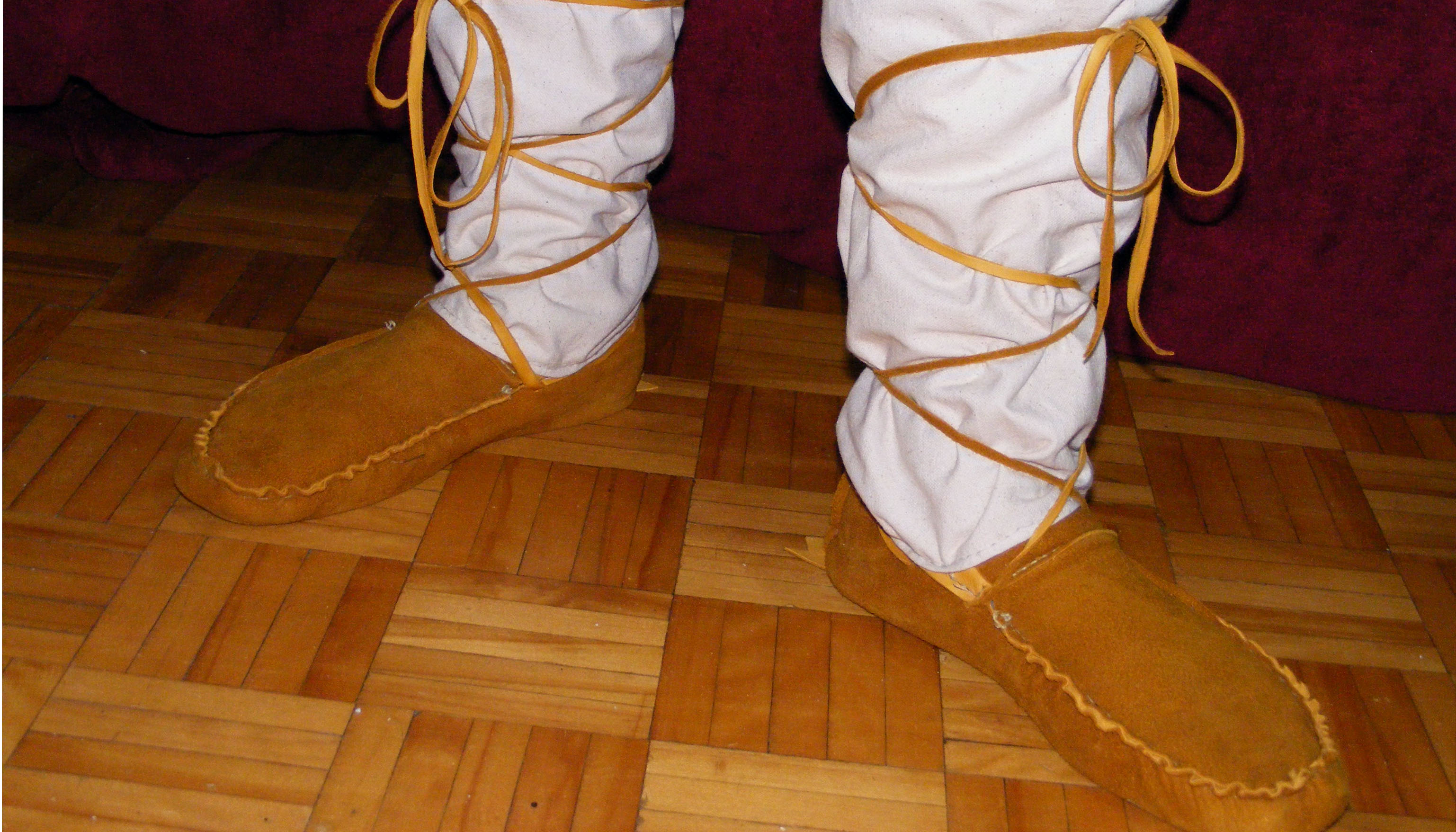 Picture of Tying Your New Moccasins