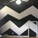 Painting a Chevron Pattern on Sloped Ceilings/Walls