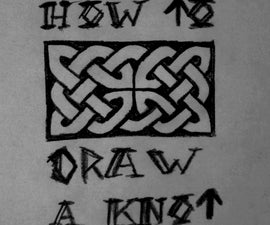 How to draw a celtic / viking knot - easy tutorial