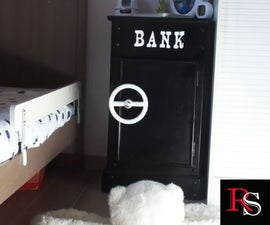 Kid's room safe from an old bedside table