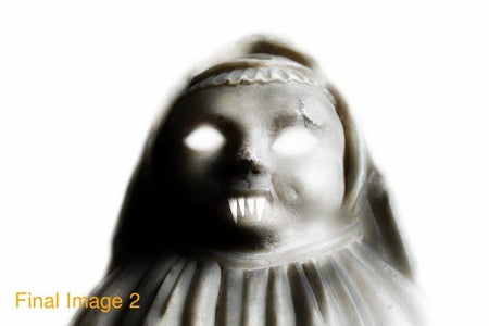 Turning a Lifeless Statue Into an Evil Ghost Using Pixlr