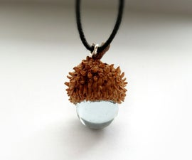 Glass Acorn Pendant