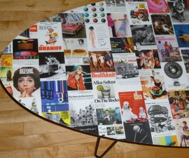 ** VINTAGE AD COFFEE TABLE **