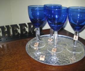 Scrabble(tm) Wine Glass Charms