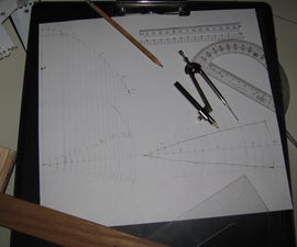 """""""Compound"""" parabolic solar cooker, make a template with technical drawing"""