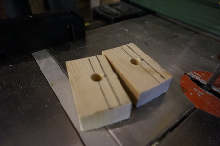Cutting the Small Piece of Wood