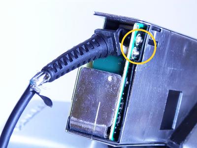 Desolder the Low Voltage Cable