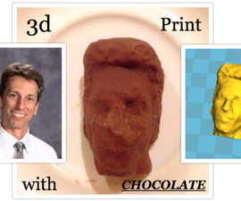 Chocolate Casting using 123d Catch and a 3d Printer