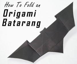 How to Fold an Origami Batarang From the Dark Knight